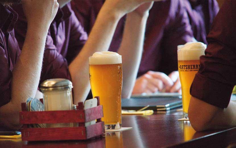 Bier in Erikas Eck