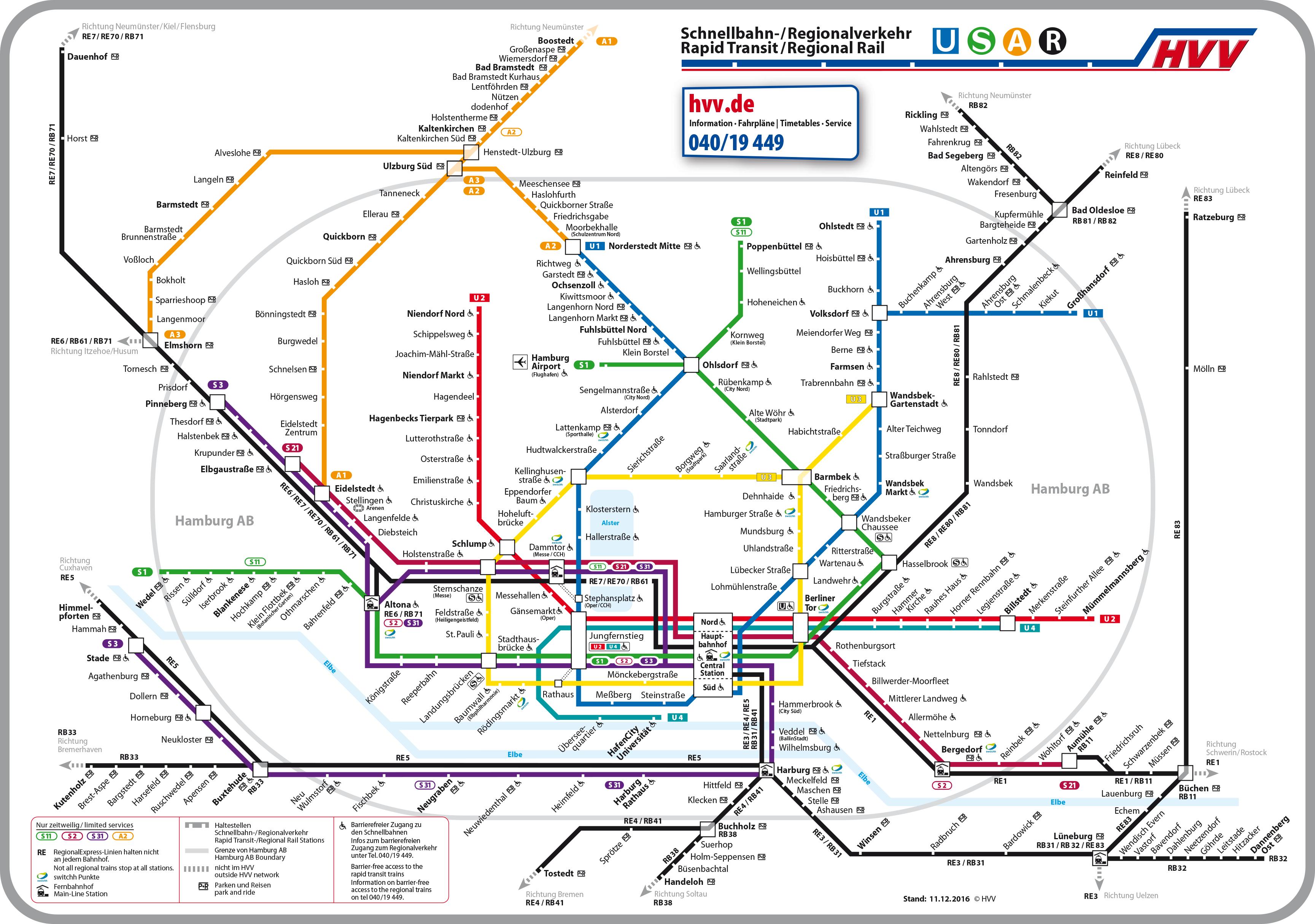 Hvv Karte Zonen.Hamburger Verkehrsverbund Hamburg Tourist Info